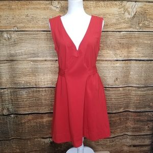 Marc by Marc Jacobs Red Fit n Flare Dress Large
